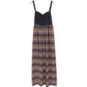 Mudd Multi-Color Maxi Dress